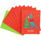 Waste Not Paper Tree Rex Holiday Card 10 Pack