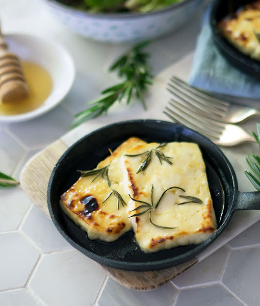 Grilled Halloumi with Honey and Rosemary + Comboyne & Ewetopia | Belly Rumbles