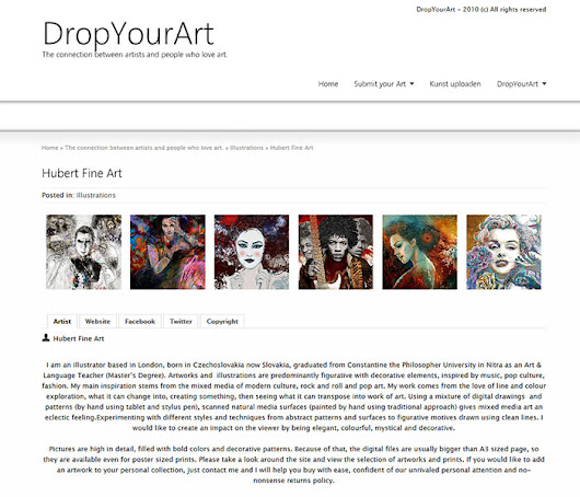 Hubert Fine Art has been published on Drop Your Art (Amsterdam) website | Hubert Fine Art