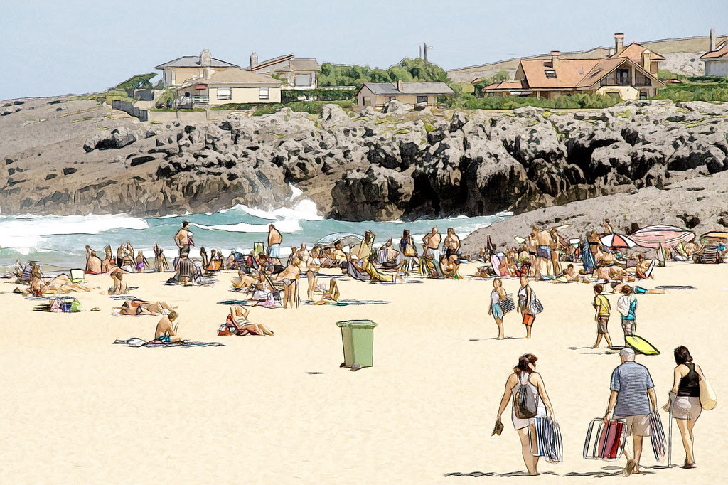 día de playa en Ajo