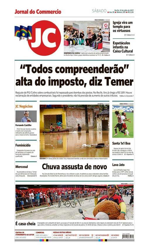 Capa do Jornal - 22/07/2017