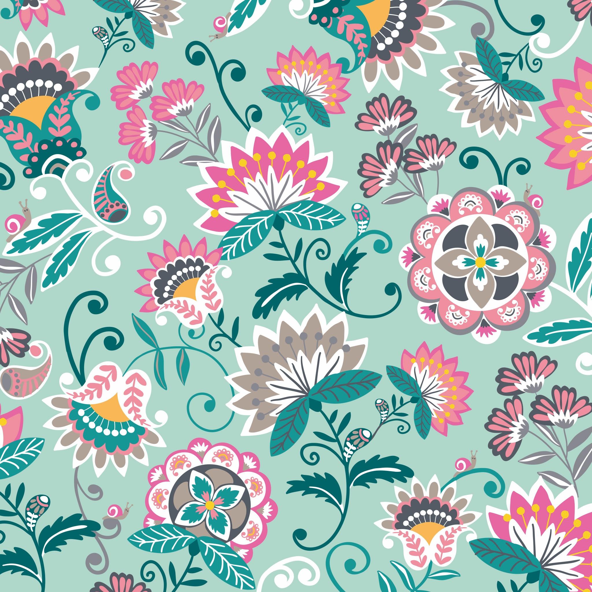 New Pattern Sneak Peek Mint Flowers Summer 2019 Vera Bradley Blog