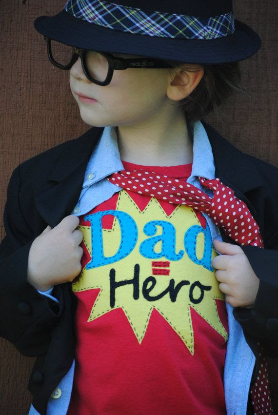 Daddy is my super hero kids Fathers Day tshirt by Onceuponastory, $25.00  - { This shirt is so rad!! }