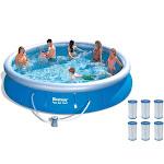 "Bestway 15' x 36"" Fast Set Inflatable Pool Set w/ 6 Cartridges | 57120US"