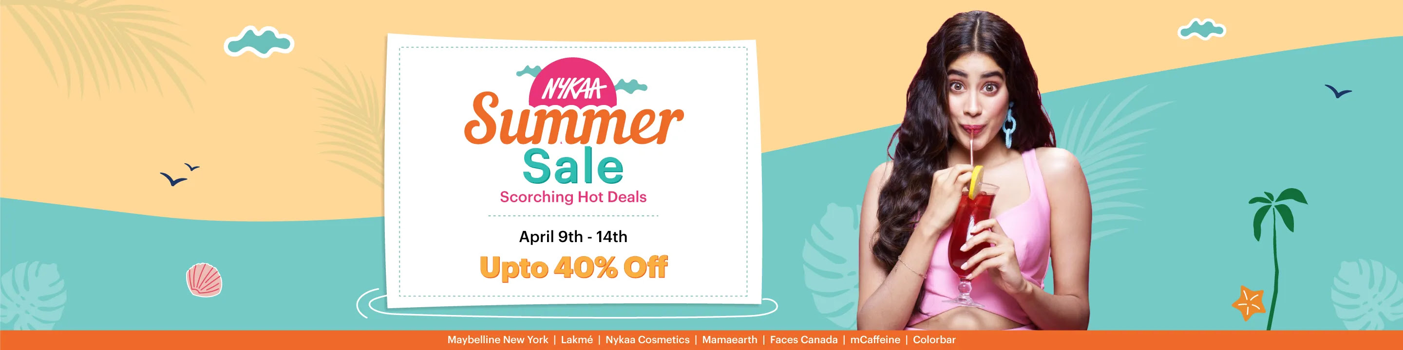 Summer Sale: Summer Offer Upto 40% Off on Cosmetics & Beauty Products | Nykaa