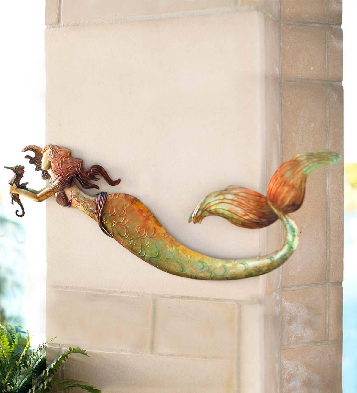 Metal Mermaid Wall Art | All Wall Art | Wind and Weather