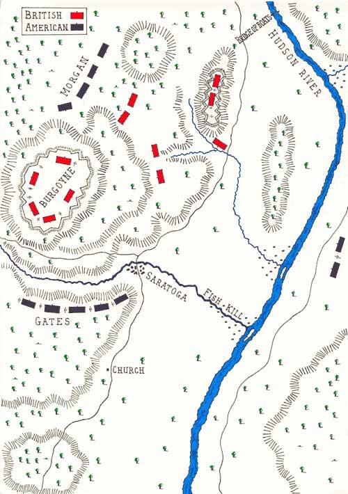 mapa batalla saratoga