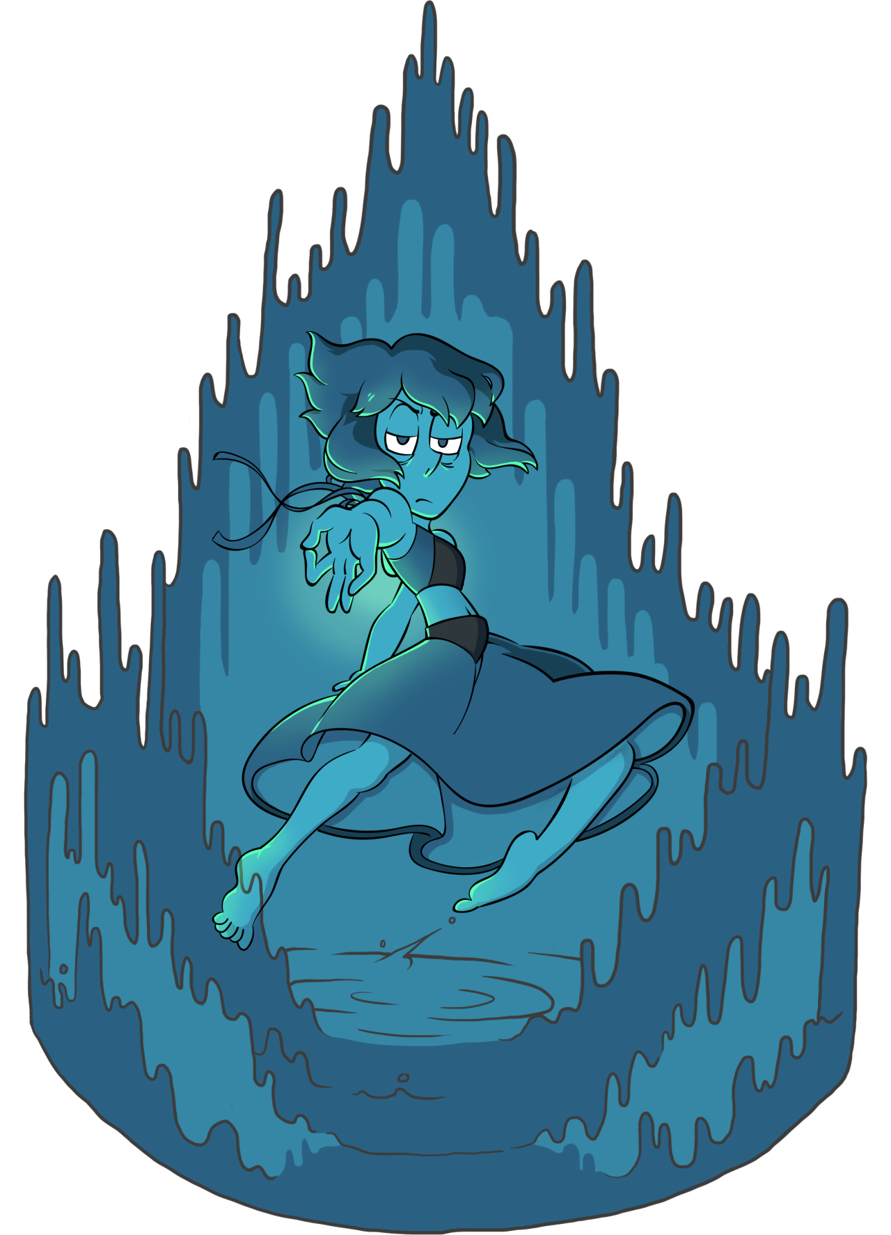 this has been in my wips folder for 1.5 years so u know im never gonna finish it heres so old lapis nya? art by me