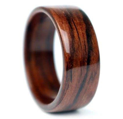 Wooden Wedding And Engagement Rings