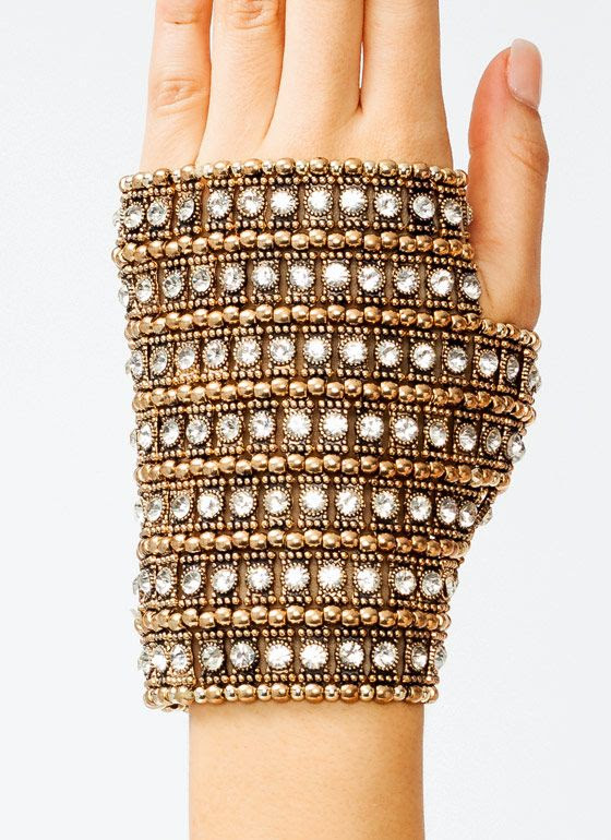 embellished fingerless glove - also, why?