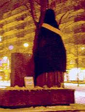Veiled statue in Finland