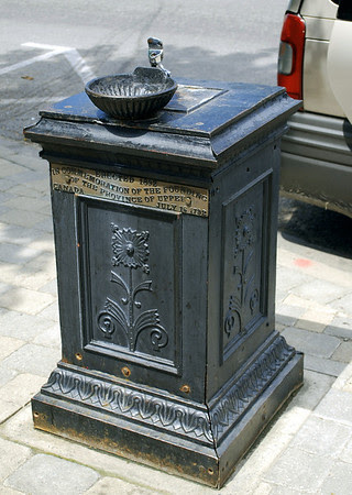 Water fountain erected in 1892 in commemoration of the founding of the Province of Upper Canada on July 16, 1792