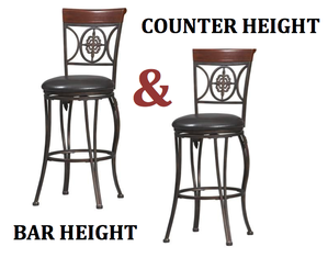 Linon Home Decor Products Fleur De Lis Bar Stool