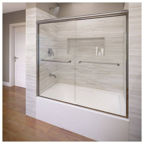 Basco A0044 60clsv Infinity Semi Frameless Sliding Tub Door Fits Shower Doors