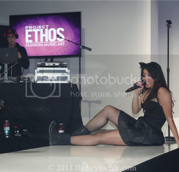Black cards at Project Ethos, Los Angeles Fashion Week