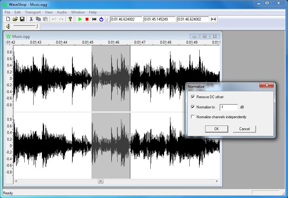 تحميل برنامج WaveShop1.0.06 لتحرير وتعديل الملفات الصوتية مجانى