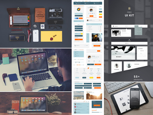 Yes, They're Completely Free. Stock Up on 6 Sets of Ready-to-Use UI Kits, Mock-Ups, & More