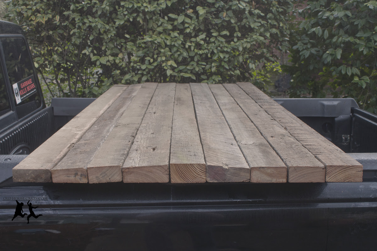 Reclaimed Heart Pine Farmhouse Table – DIY – Part 1 – Milling Old ...