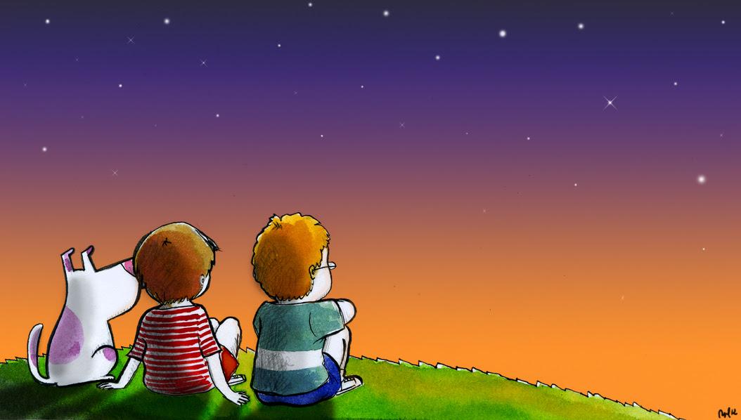 Resultado de imagen para niños viendo al cielo