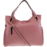 Vince Camuto Womens Eliza Pebbled Leather Tote Handbag Pink Large