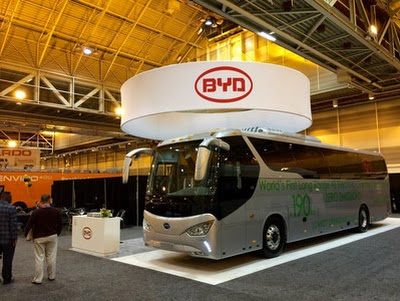 BYD Unveils World's First Battery Electric Coach Bus -- NEW ORLEANS, Jan. 27, 2015 /PRNewswire/ --