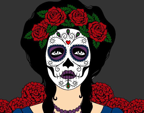 Dibujo De Mujer Calavera Mexicana Pintado Por Rayark En Dibujosnet