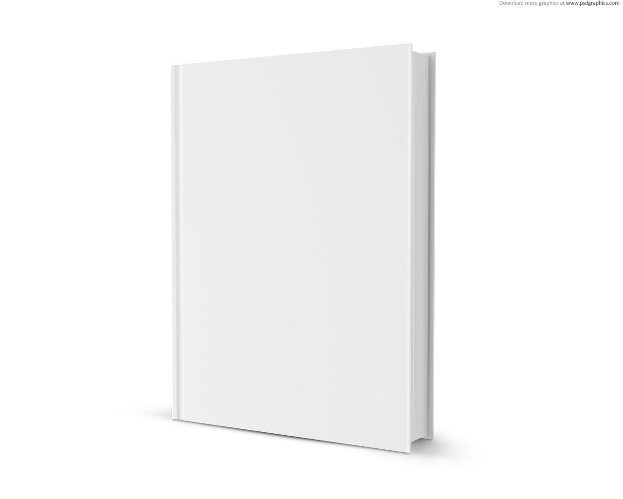 Blank white book   PSDGraphics