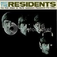 MEET THE RESIDENTS, una copia burlesca. La rotulación es la misma de un mini-LP editado en América con la foto de portada del LP anterior
