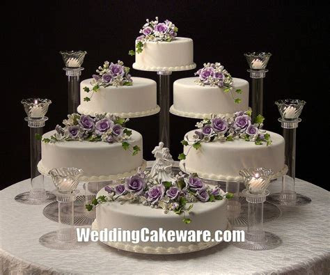 6 TIER CASCADING WEDDING CAKE STAND STANDS / 6 TIER CANDLE