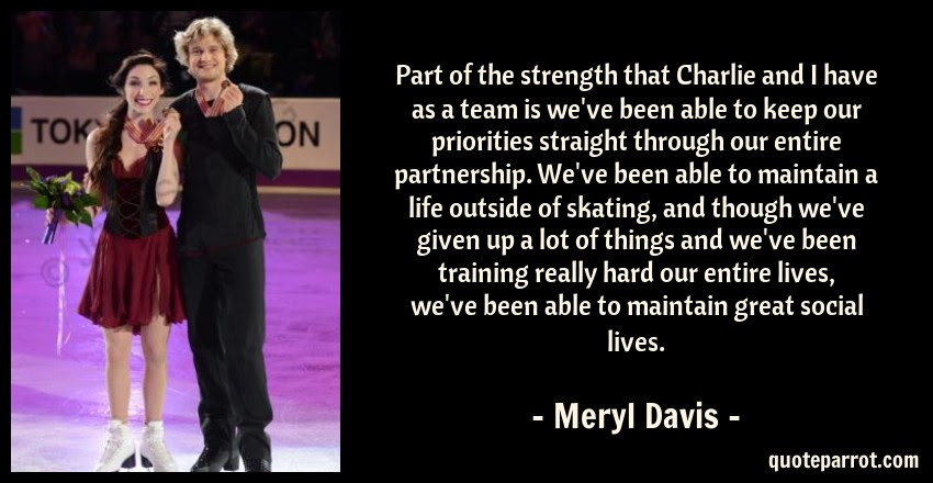 Part Of The Strength That Charlie And I Have As A Team By Meryl
