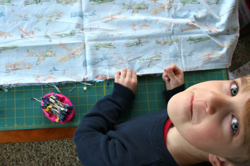 Tips for Sewing with Kids - pinning