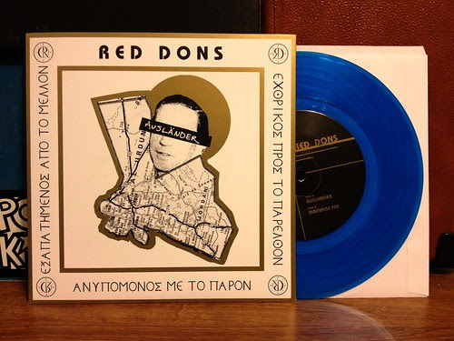"Red Dons - Auslander 7"" - Blue Vinyl (/200) by Tim PopKid"