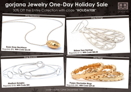 30% Off at Gorjana Holiday Sale