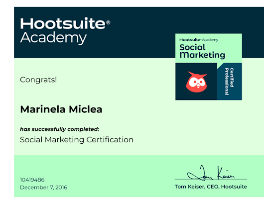 Credential for Social Marketing Certification
