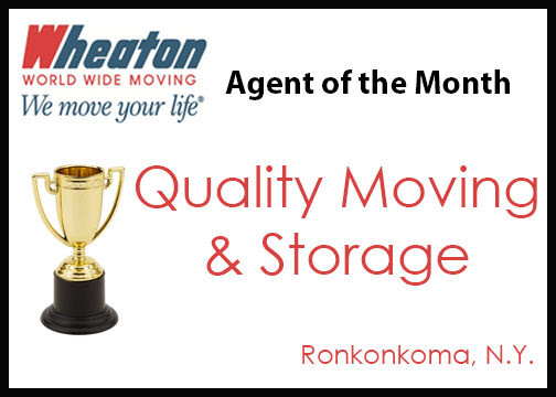 Quality Moving & Storage named February Agent of the Month - Wheaton