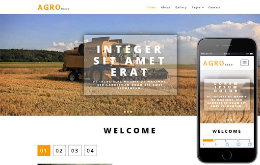 Agro Seed an Agriculture Category Bootstrap Responsive Web Template