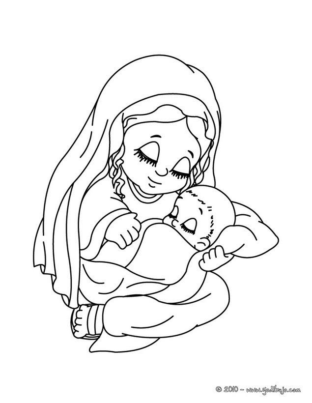 Dibujos Para Colorear La Virgen Maria Eshellokidscom