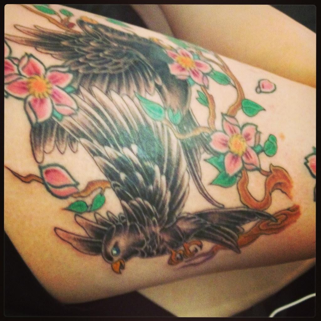 Blackbirds Still Pretty Fresh And Bleeding 1st Sitting To Cover Up