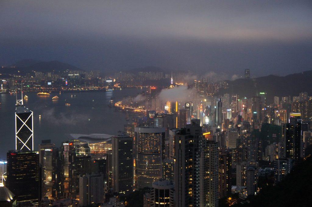 太平山頂からの夜景