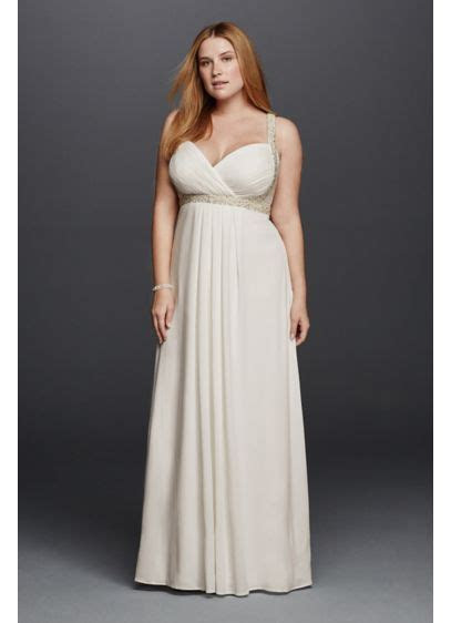 Spaghetti Strap Plus Size Wedding Dress   David's Bridal
