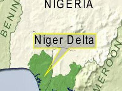 Niger Delta on Nigeria map