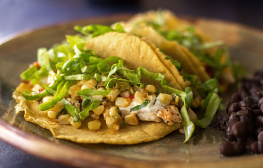 Chicken Tacos with Green Chile Corn Relish