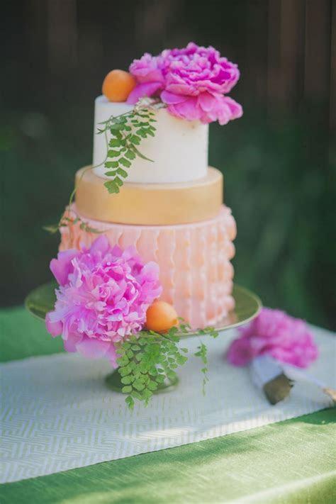Hot Pink and Orange Watercolor Wedding {Alexandra Wallace