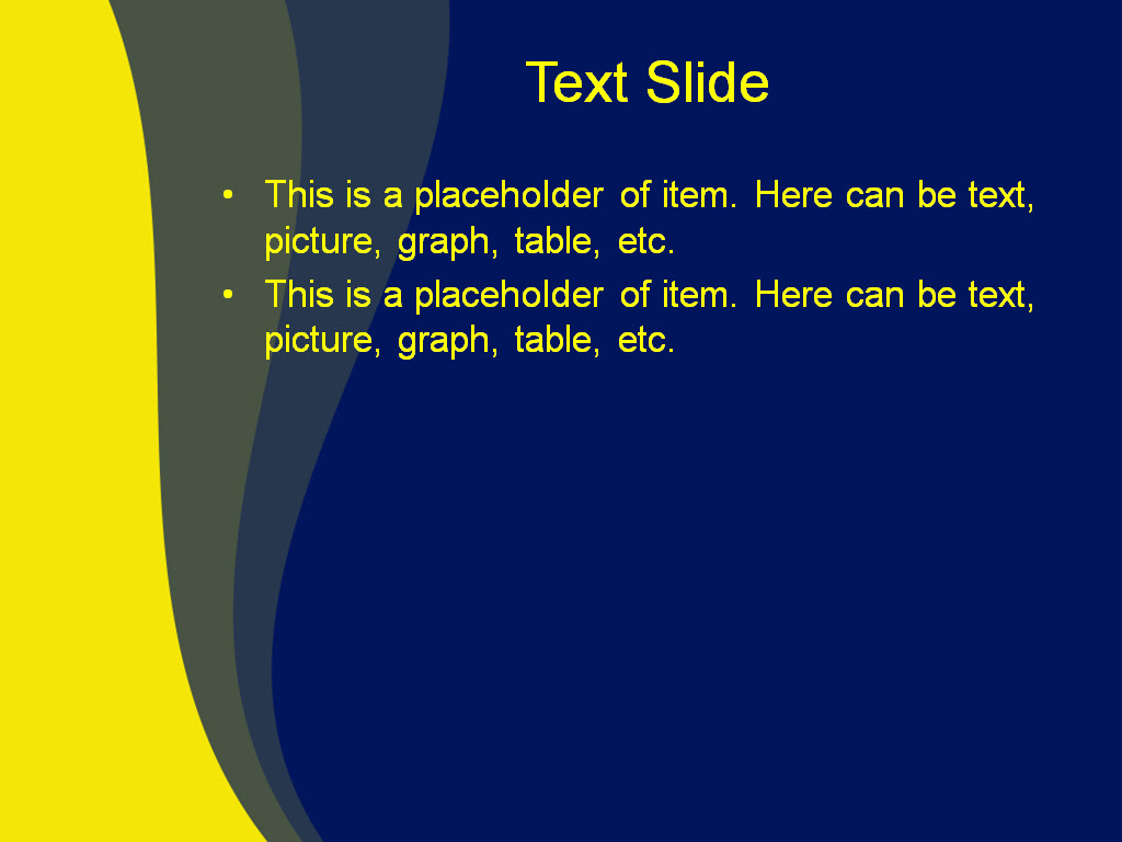 Download Free Yellow Wave Powerpoint Template For Your Presentation