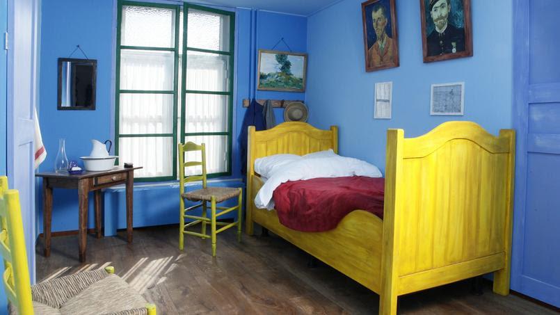 La chambre reproduite à partir de l'œuvre de Van Gogh.