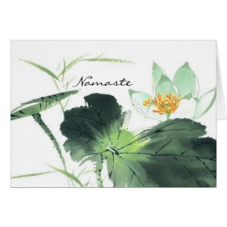 POND LOTUS PEACE l Chinese Brush Painting Art Greeting Cards