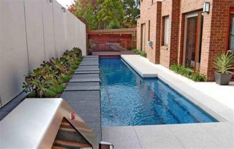 spectacular narrow swimming pool designs