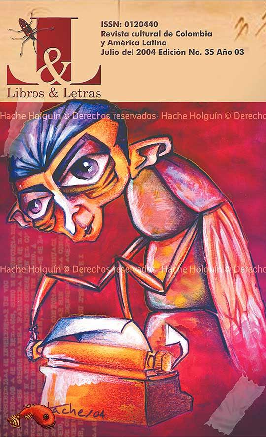 Portada de Libros y Letras por Hache Holguín