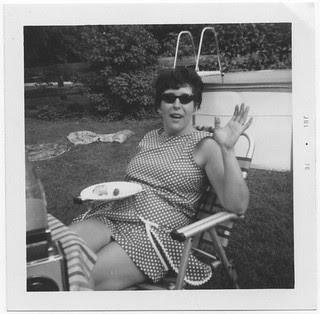 Mom in the backyard