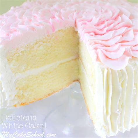 White Almond Sour Cream Cake  A Scratch Recipe   My Cake
